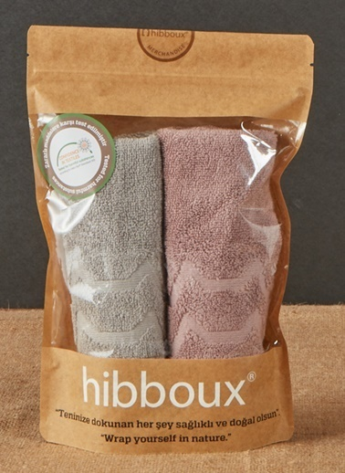Hibboux 30x50 Vogue El Havlusu 2'li Set - Iron & Plum Renkli